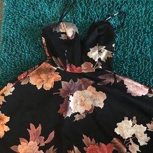 Black Floral Charlotte Russe Dress
